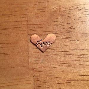 Origami Owl Copper Mini Love Heart